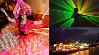 Human Tables,Lazer Shows,Luxury Sunset Cruise- Water Front